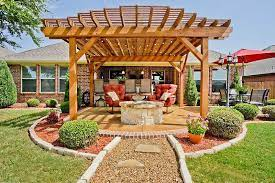 Pergola With Fire Pit Backyard Designs Designing Idea