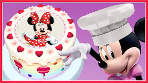 Minnie Mouse Disney Junior Birthday Cake Baby Learn Cooking Real