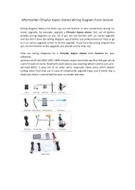 aftermarket chrysler aspen stereo wiring diagram from seicane