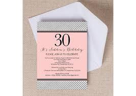 Blush Pink Black Polka Dot Birthday Party Invitation