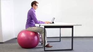 is sitting on an exercise ball at work a bad idea
