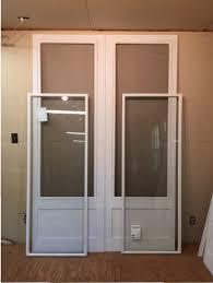 custom wood storm screen combination insert doors