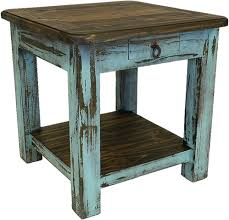 wood end tables. Corona Wood Turquoise End Table Tables
