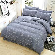 duvet covers for teens home textile thicken gray plaid bedding set queen size cover teen boy