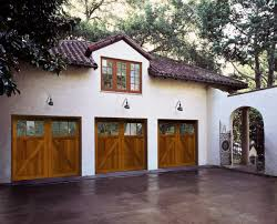 traditional wood garage doors