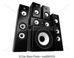 dj speakers clipart. speakers - black-white audio isolated on white. dj clipart s
