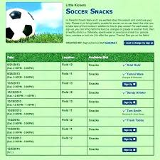 Team Snack Schedule Template Art Soccer Snack Calendar Template Soccer Calendar Template