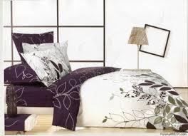 Purple White Leaf Design Queen Bed Quilt Duet Cover Sets 4pc - Buy ... & purple white leaf design queen bed quilt duet cover sets 4pc Adamdwight.com