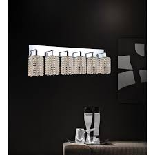 Chrome Bathroom Lighting Fixtures Simple 48WRCR CLEAR CWI Lighting 48WRCR Clear Glitz 48 Light
