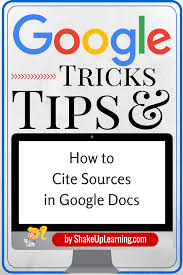 How To Cite Sources In Google Docs Technology Google Docs