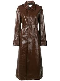 ami alexandre mattiussi women s patent leather trenchcoat