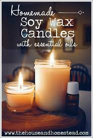 these homemade soy candles with essential oils are a safe healthy and all natural