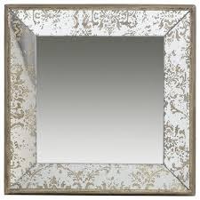 antique look frameless wall mirror tray