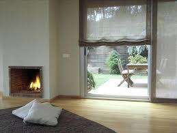 roman shades for sliding glass doors soft roman shades on sliding glass door combining nature and