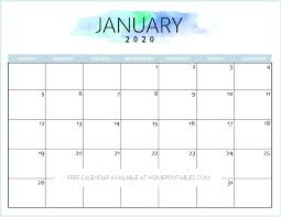 Printable Calendars For 2020 Free 2020 Calendar Printable Simple And Very Pretty