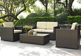 awesome wicker patio set for your patio furniture ideas lovely brown wicker chair outdoor furniture