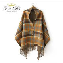 [FEILEDIS]2017 Women 's <b>autumn and winter</b> new button shawl ...