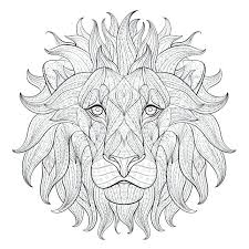 Coloring Sheets Printable A Face Of A Lion Adult Coloring Page