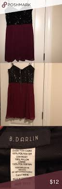 B Darlin Size Chart B Darlin Sequin Dress Black Sequined Top With Flare Bottom B
