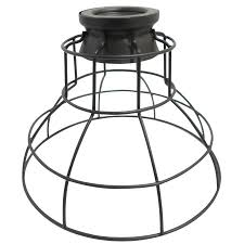 portfolio 6 75 in h 8 5 in w french bronze wire industrial cage pendant light