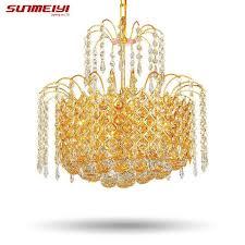2017 gold crystal chandelier lamp luxury crystal fixture lights ers de cristal chandeliers ceiling for living room wagon wheel chandelier wine barrel