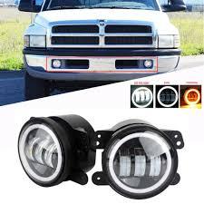 2012 Ram 2500 Fog Lights Details About 4inch Round 30w Led Fog Lights Front Bumper For 94 01 Dodge Ram 1500 2500 3500