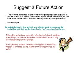 ppt how to write a concluding paragraph powerpoint presentation  suggest a future action