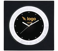 personalized printed square wall clock