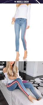 New Jeans Design For Girl 2019 Ladies Cheap Side Stripe Jeans Top Design Super Skinny Plain Denim Jeans Pants For Woman 2019 Wholesale China View Ladies Jeans Top Design Vow