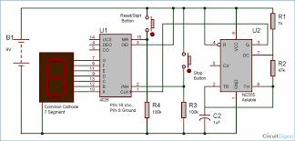 reaction timer game circuit diagram using ic 555 and ic 4026 reaction timer game circuit diagram