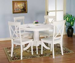 Holland House 1280 5 Piece Round Kitchen Table And X Back Side