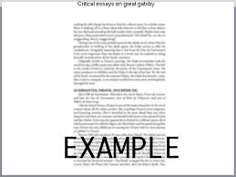 critical essays on great gatsby custom paper academic writing service critical essays on great gatsby browse and critical essays on the great gatsby critical