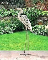 blue heron garden sculpture blue heron garden statue impressive on bird statues garden decor outdoor garden