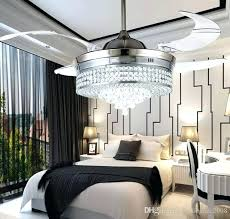 ceiling fan for bedroom new invisible led crystal ceiling fans with lights modern bedroom living room ceiling fan for bedroom