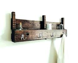 wooden towel ring rack with shelf pallet for bathroom wood projects rail freestanding uk holder b