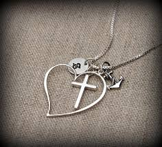 anchor cross heart necklace free