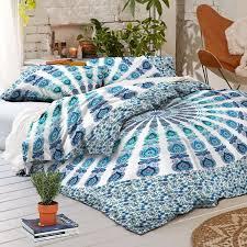 new boho armelia mandala tapestry queen duvet cover set