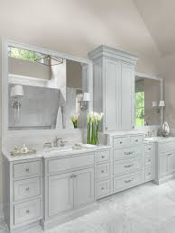 white master bathrooms. White And Gray Master Bathroom Bathrooms