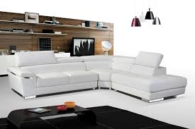 2383 white leather sectional