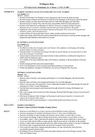 General Sales Manager Resume Samples Velvet Jobs