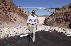 """Image result for barack """"hussein"""" obama, the hoover dam"""