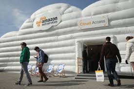cloud computing as a utility is going mainstream recode ors arrive at the cloud pavilion of amazon web services at the 2016 cebit digital technology trade fair in hanover sean gallup getty