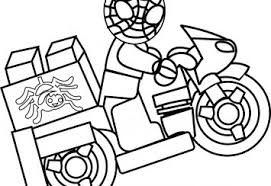 Lego Spiderman Coloring Pages Kids Spider Man Picture Ninjago Free