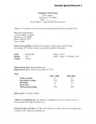 Resume Examples Objective For High School Graduate Sample Template