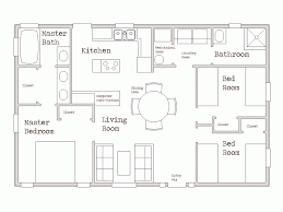 House Plan 3 Bedroom House Plan Sketch Lovely Floor Plan For A Small House  1 .