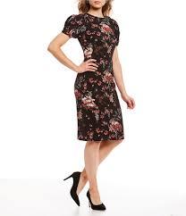 Antonio Melani Tatum Floral Print Short Puff Sleeve Sheath