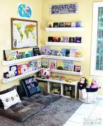 how to set up a reading nook kids love plus diy rain gutter bookshelf