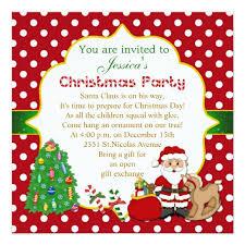 Christmas Birthday Party Invitations Santa Tree Rocking Horse Kids Christmas Party Invitation Zazzle Com