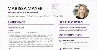 Modern Resume Tumblr Marissa Mayers Resume Has Gone Viral Again But Is It All