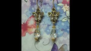 diy make gorgeous crystal dangle erfly earrings inexpensive easy